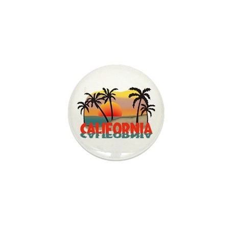 California Sunset Souvenir Mini Button (100 pack)