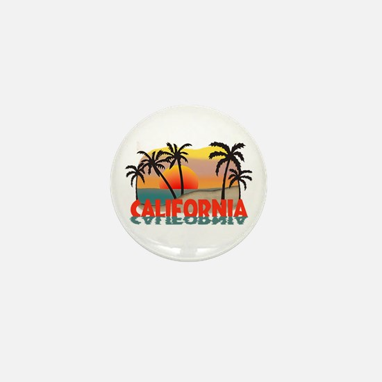 California Sunset Souvenir Mini Button