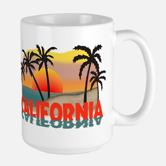 California Sunset Souvenir Large Mug
