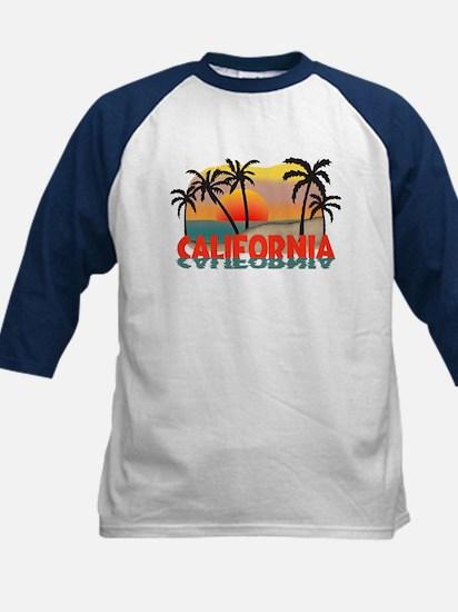 California Sunset Souvenir Kids Baseball Jersey