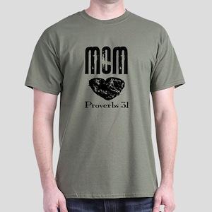Proverbs 31 Mom grunge Dark T-Shirt