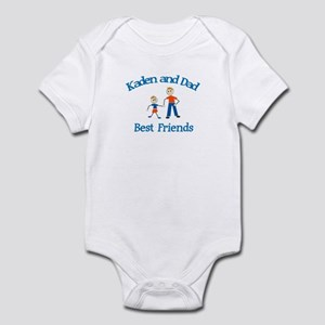 Kaden and Dad - Best Friends Infant Bodysuit