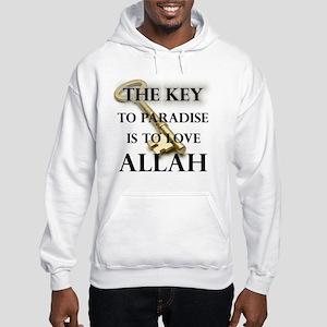 key to paradise love Allah Hooded Sweatshirt