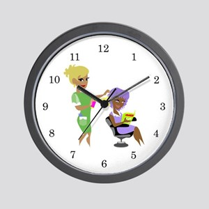 Hair Dresser Wall Clock