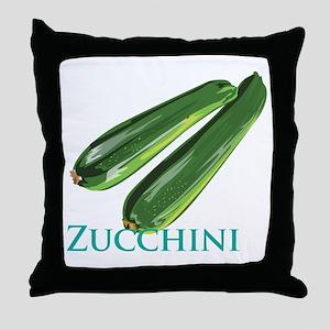 Zucchini Squash Throw Pillow