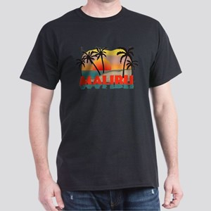 Malibu Beach California Souvenir Dark T-Shirt
