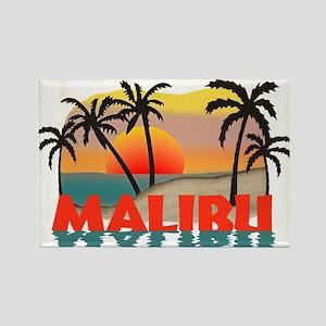 Malibu Beach California Souvenir Rectangle Magnet