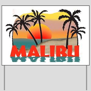 Malibu Beach California Souvenir Yard Sign