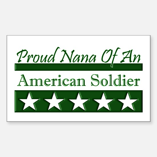 Nana of an American Soldier Rectangle Decal