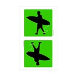 iSurf Male - Rectangle Sticker 10 pk)