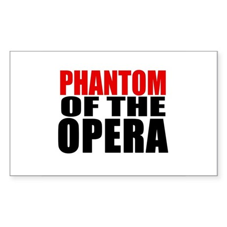 Phantom of the Opera Rectangle Sticker