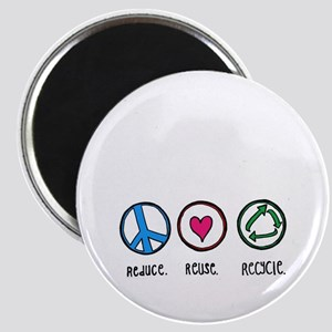 Reduce; Reuse; Recycle Magnet
