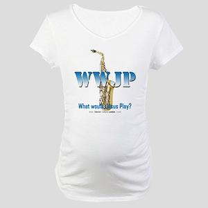 WWJP - Saxophone Maternity T-Shirt