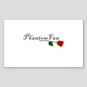 Phantom Fan Rectangle Sticker