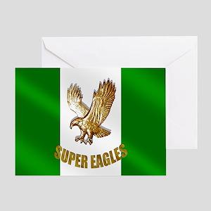 Nigerian Eagle Flag Greeting Card