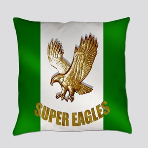 Nigerian Eagle Flag Everyday Pillow