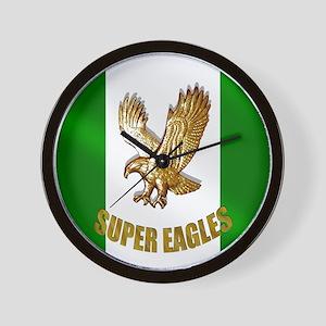 Nigerian Eagle Flag Wall Clock