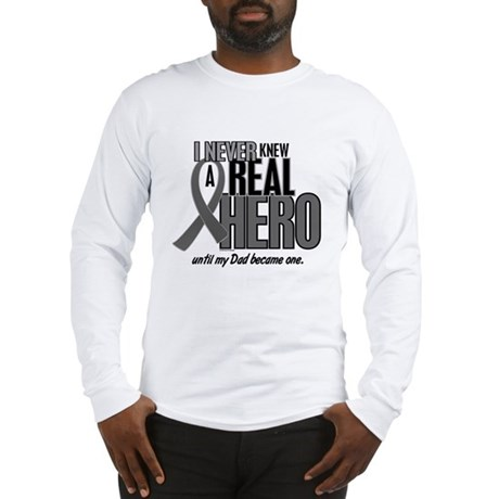 Never Knew A Hero 2 Grey (Dad) Long Sleeve T-Shirt