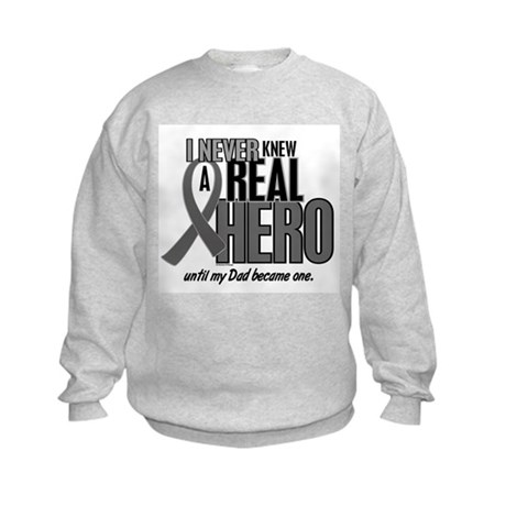 Never Knew A Hero 2 Grey (Dad) Kids Sweatshirt