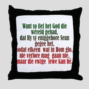 John 3:16 Afrikaans Throw Pillow