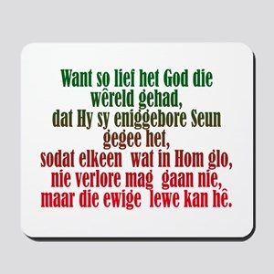 John 3:16 Afrikaans Mousepad
