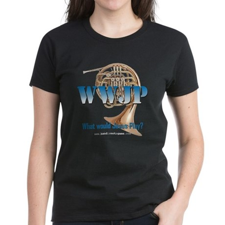 WWJP - French Horn Women's Dark T-Shirt