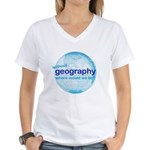 without geography Women's V-Neck T-Shirt