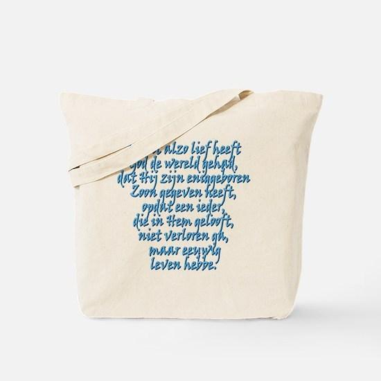 John 3:16 Dutch Tote Bag