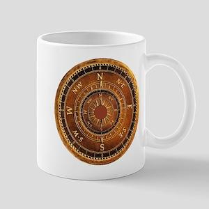 Compass Rose in Brown Mug