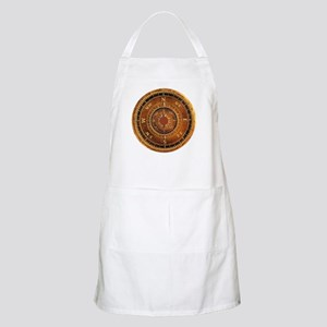 Compass Rose in Brown Apron