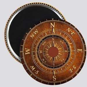 Compass Rose in Brown Magnet