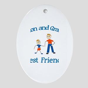Preston & Grandpa - Best Frie Oval Ornament