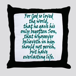 John 3:16 English Throw Pillow
