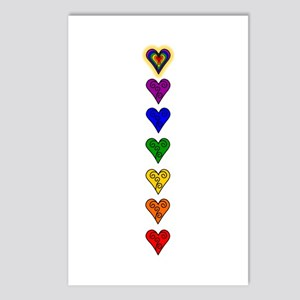 Chakra Heart Line Postcards (Package of 8)
