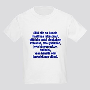 John 3:16 Finnish Kids Light T-Shirt
