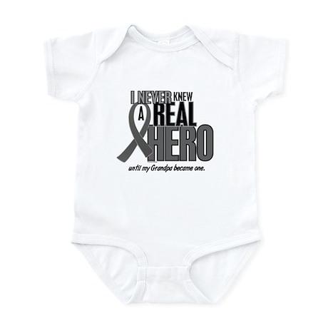 Never Knew A Hero 2 Grey (Grandpa) Infant Bodysuit