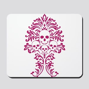 Pink Baroque Skull Mousepad