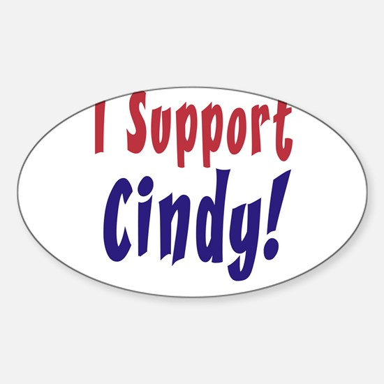 Support Cindy Sheehan Oval Decal