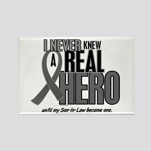 Never Knew A Hero 2 Grey (Son-In-Law) Rectangle Ma