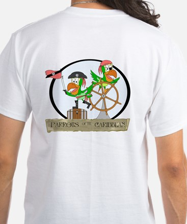 Parrots of the Caribbean White T-Shirt