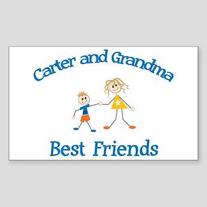 Carter & Grandma - Best Frien Rectangle Sticker