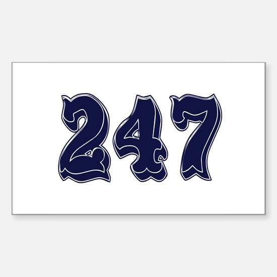 247 Rectangle Decal