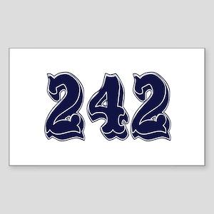 242 Rectangle Sticker