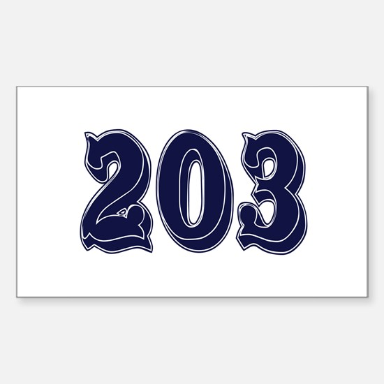 203 Rectangle Decal