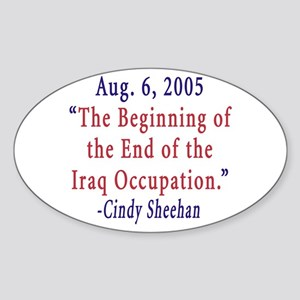 Support Cindy Sheehan Oval Sticker