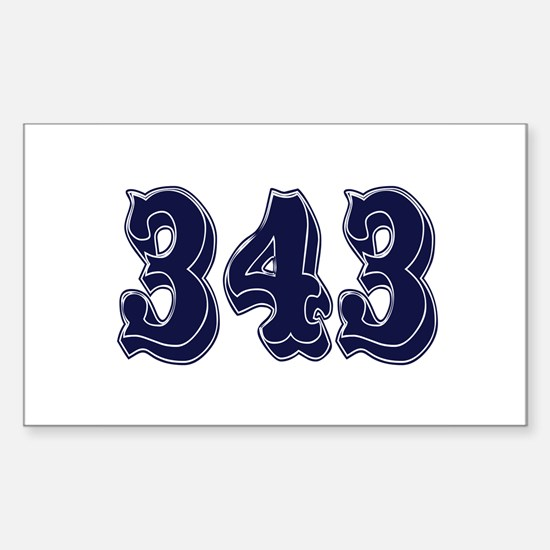 343 Rectangle Decal