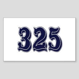 325 Rectangle Sticker
