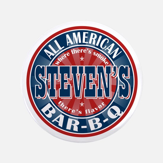 "Steven's All American BBQ 3.5"" Button"