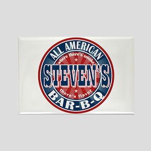 Steven's All American BBQ Rectangle Magnet