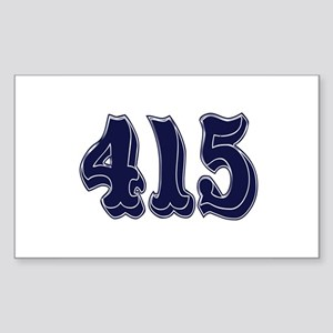 415 Rectangle Sticker